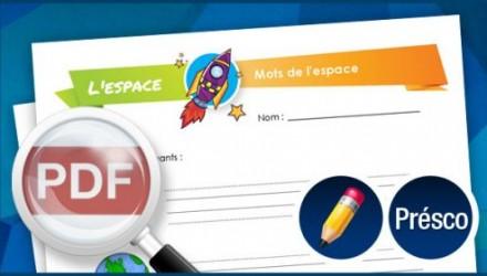 Mots de l'espace