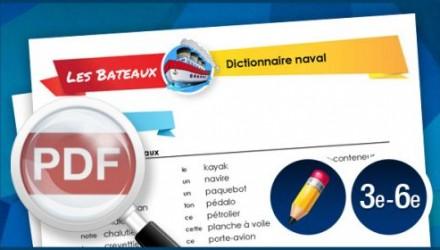 Dictionnaire naval (3e à 6e année)