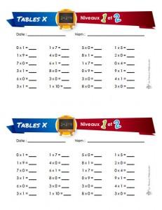 Tests de tables multiplication et division for Test de multiplication
