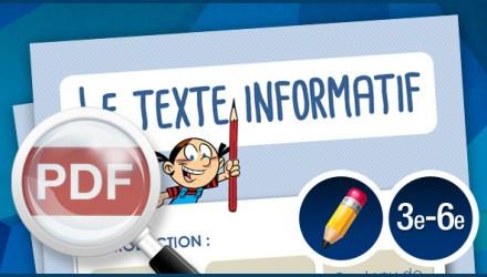 Le texte informatif
