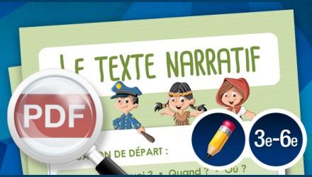 Le texte narratif (affiche)