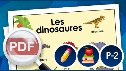 Affiche de dinosaures